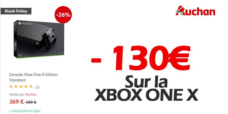 Xbox One X à 369€ chez Auchan (-130€ de remise)