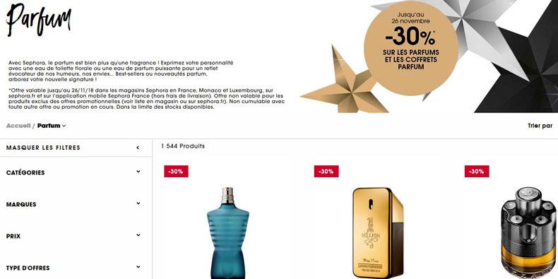 -30% sur les coffrets de parfums chez Sephora