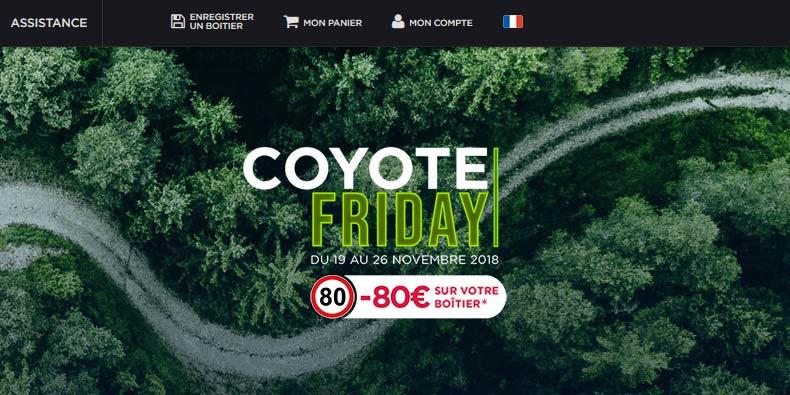 -80€ sur les boitiers GPS Coyote jusqu'au 30/11