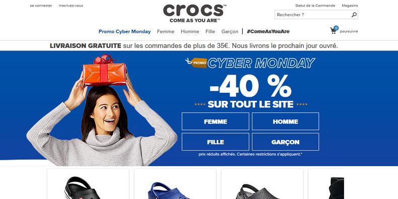 -40% sur tout le site de Crocs