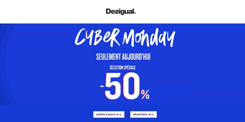 Jusqu'à -50% chez Desigual pour le Cyber Monday
