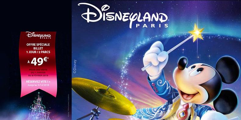 -51% sur des billets Disneyland chez Fnac Spectacles