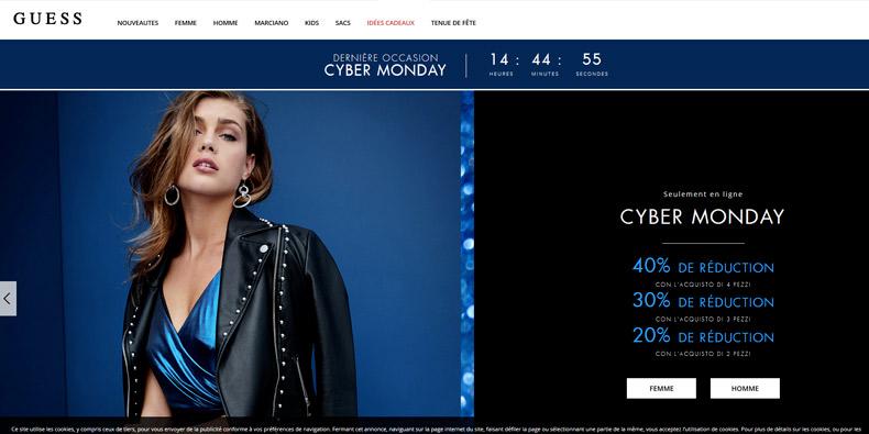 GUESS passe la barre des -40% pour le Cyber Monday