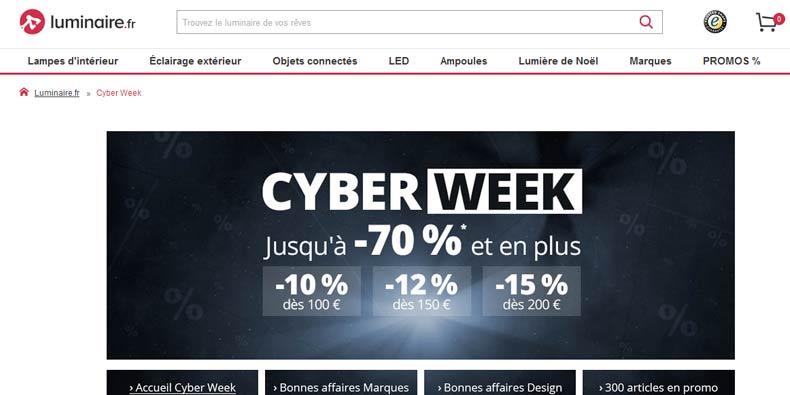 Jusqu'à -70% + Codes PROMO chez Luminaire.fr