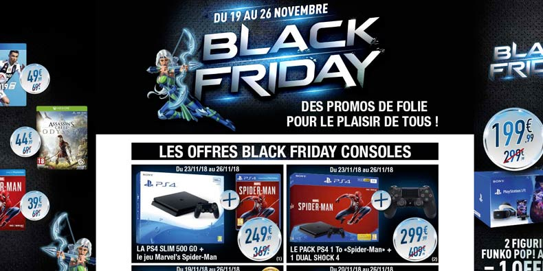 micromania p te les plombs et lance son black friday black friday france. Black Bedroom Furniture Sets. Home Design Ideas