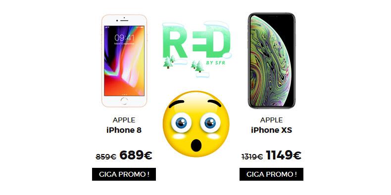 RED de SFR casse les prix des iPhone 8 et XS