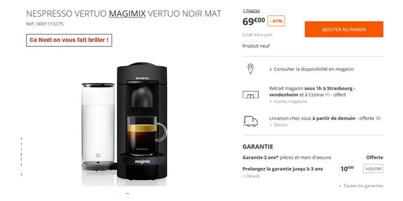 Machine Nespresso à -65% chez Boulanger !