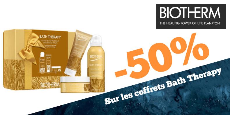 -50% sur les coffrets Bath Therapy chez Biotherm!