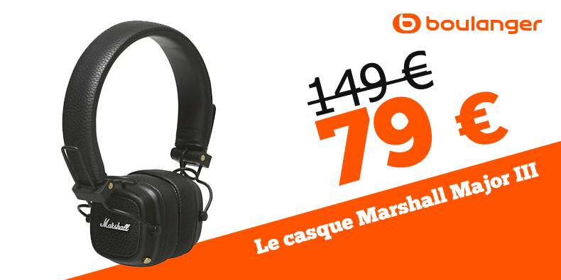 -46% sur le casque audio Marshall chez Boulanger !