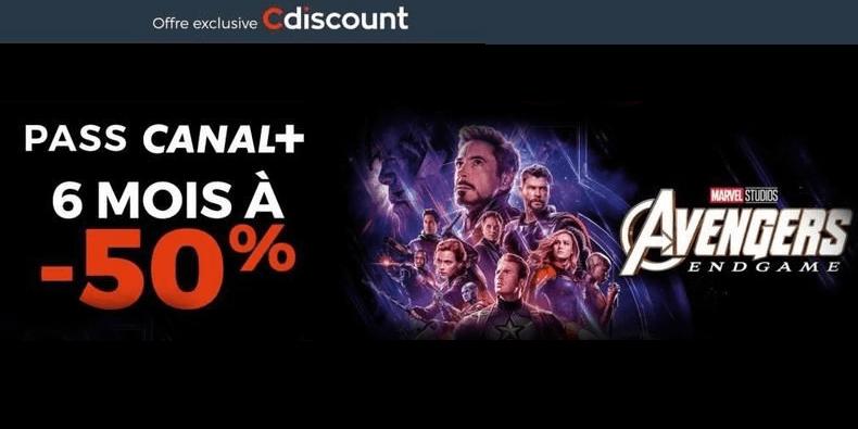 -50% le pass 6 mois Canal + chez Cdiscount