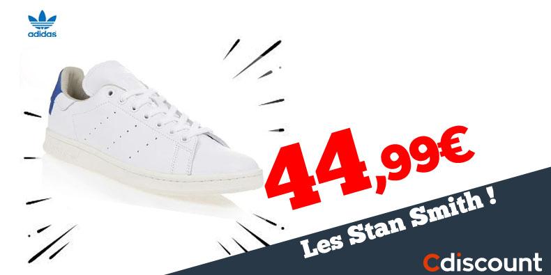 44,99€ seulement les Adidas Stan Smith chez Cdiscount!