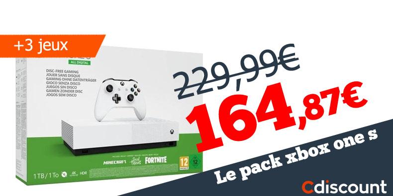 -65€ le pack Xbox one sur CDiscount!