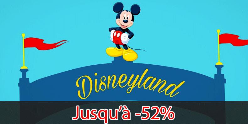 Jusqu'à -52% sur les Billets/Séjours à Disneyland ça intéresse quelqu'un ?