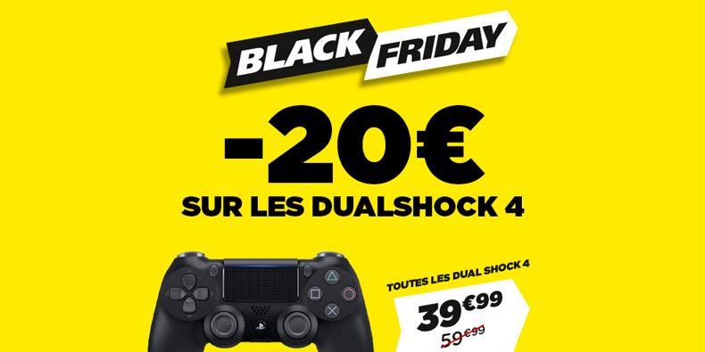 -20€ sur toutes les manettes DualShock4 chez Micromania