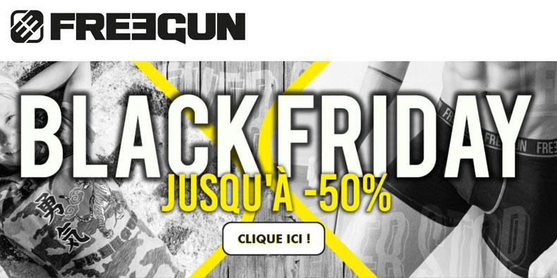Jusqu'à -50% chez Freegun!