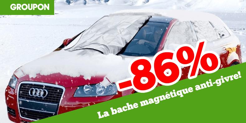 -86% la bache magnétique anti-givre chez Groupon !
