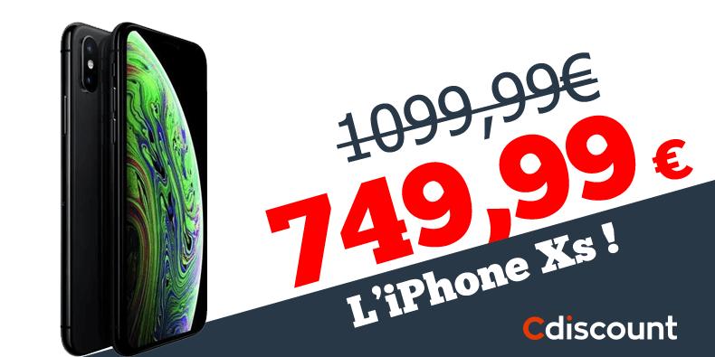 – 350€ sur L'iPhone Xs chez Cdiscount!
