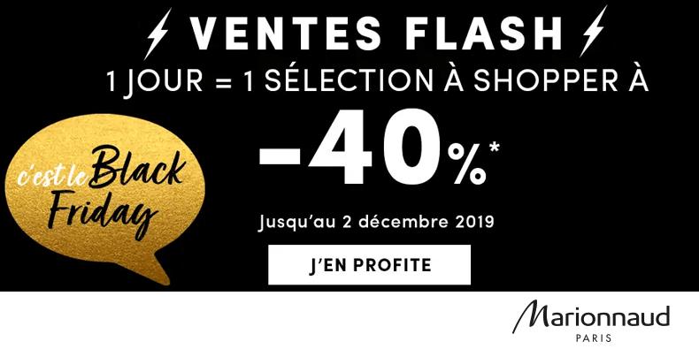 VENTES FLASH : -40% chez Marionnaud !