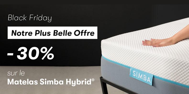 -30% le matelas hybride Simba