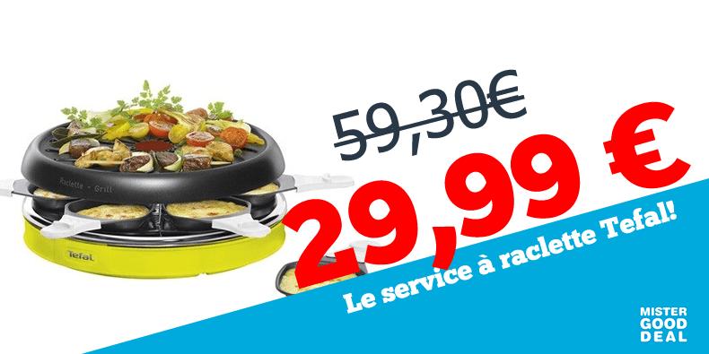 -49% le service à raclette Tefal !