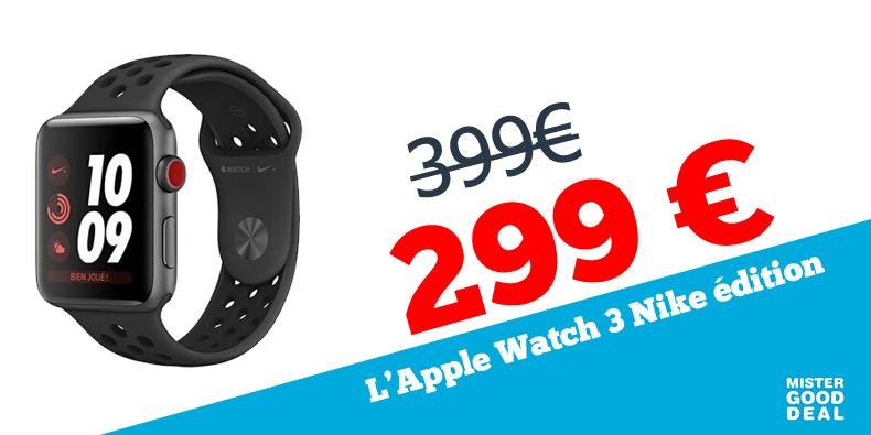 -25% sur l'Apple Watch 3 Nike édition !