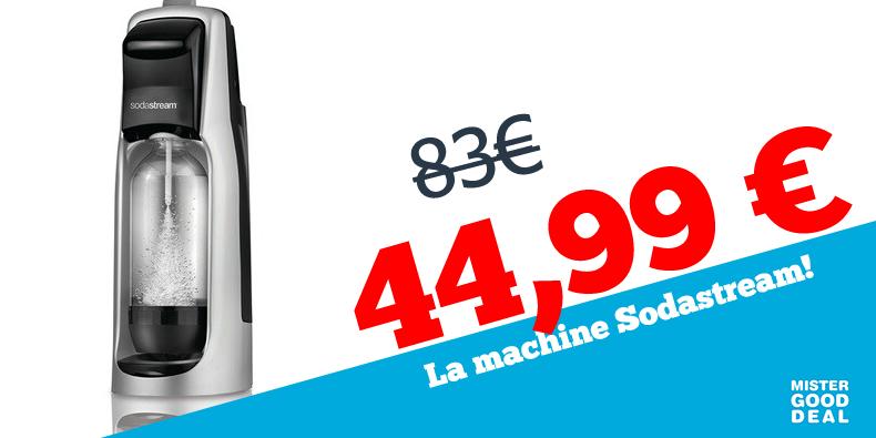 -46% la machine Sodastream chez Mister good deal !