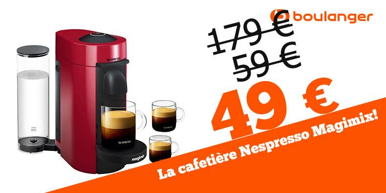 -10€ supplémentaires sur la machine Nespresso Magimix chez Boulanger!