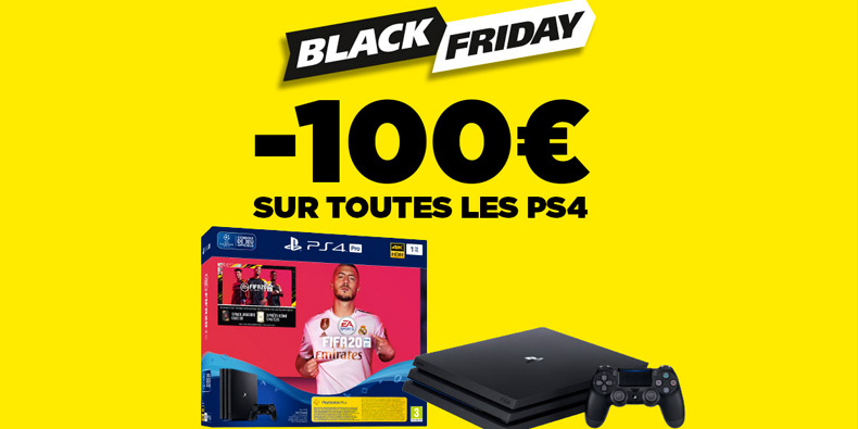 100€ de remise sur les Playstation 4 chez Micromania