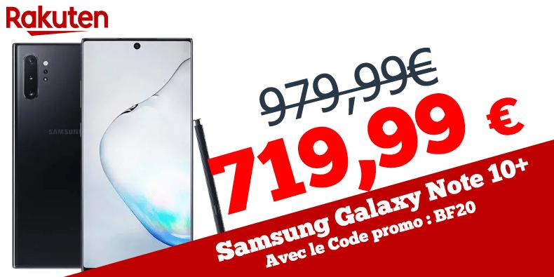 719,99€ au lieu de 979,99€ les Samsung Galaxy Note 10+