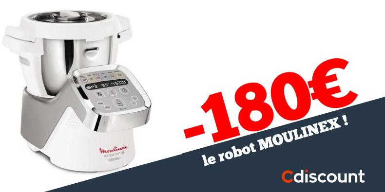 -180€ sur le Robot de cuisine Moulinex sur Cdiscount!