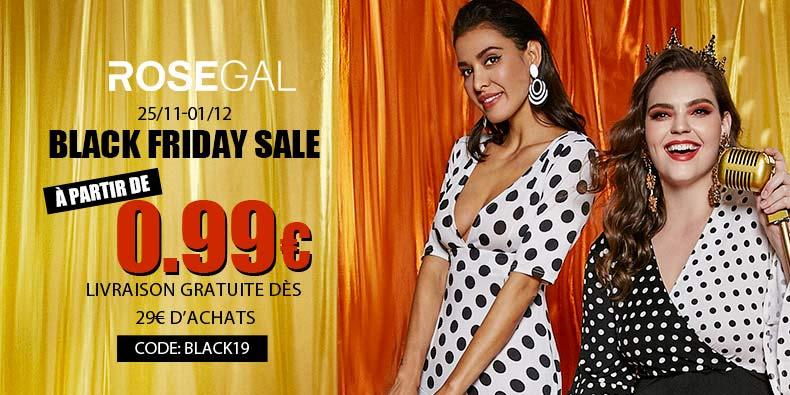 Black Friday : à partir de 0,99€ chez ROSEGAL