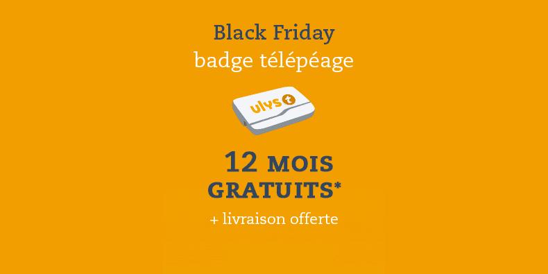 Ulys by VINCI Autoroutes : 12 mois d'abonnement offerts sur le badge de télépéage + livraison gratuite.