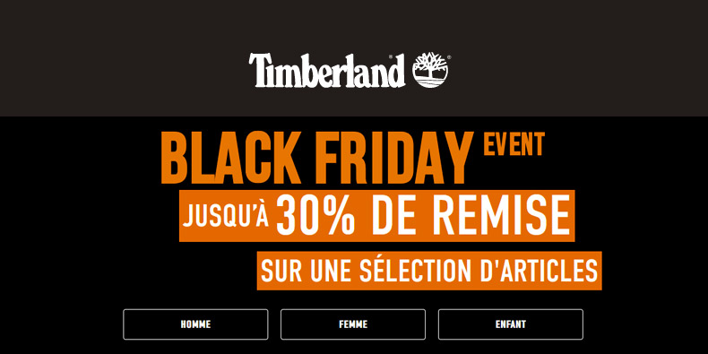 Timberland lance son Black Friday avec -30%
