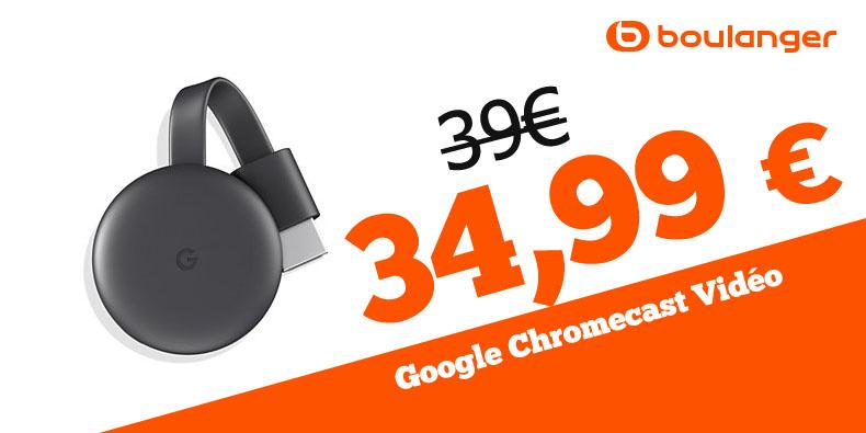 34,99 € La passerelle multimédia Google chez Boulanger