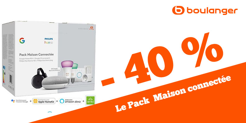 -40% le Pack Maison Connectée Google & Philips