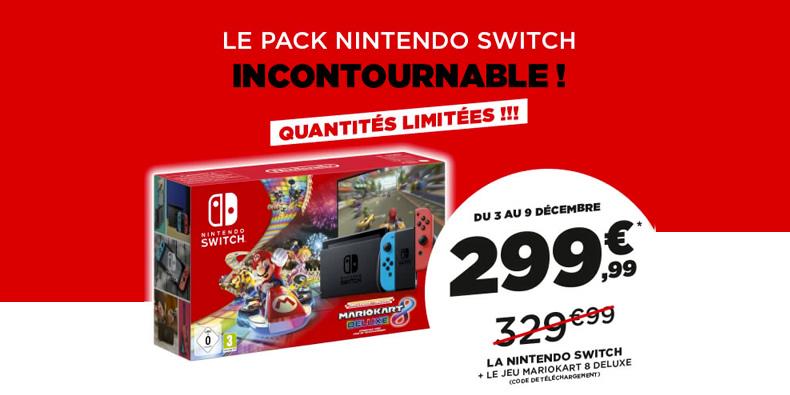 Prix Cassé sur les packs Nintendo Switch chez Micromania