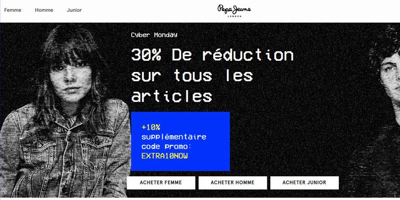 Pepe Jean passe son site à -40% !