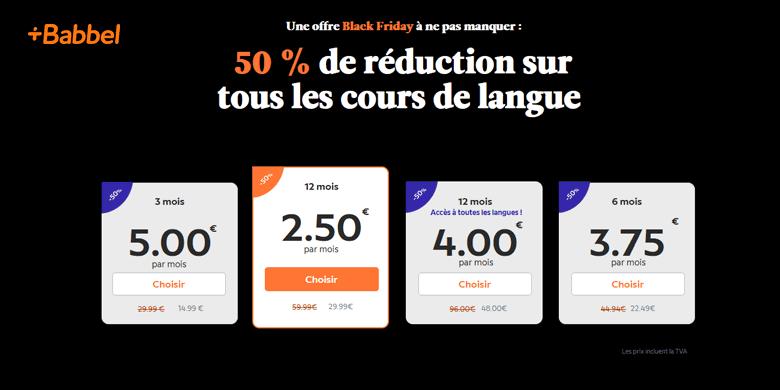 -50% sur les abonnements Babbel