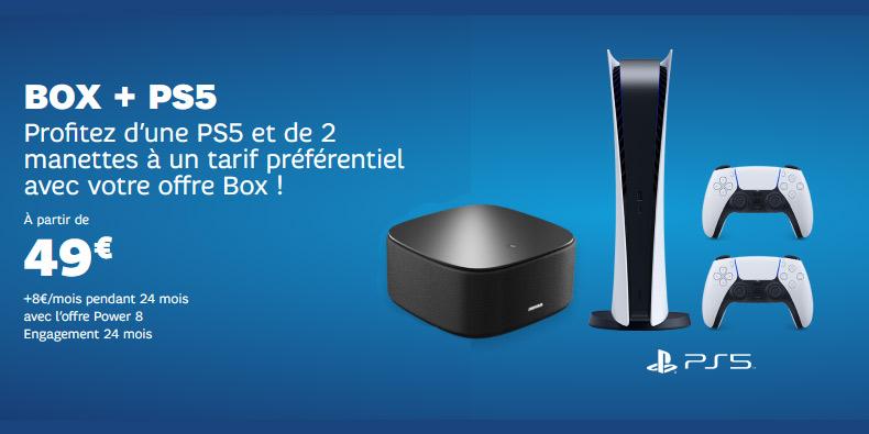 Offre PS5 + Box SFR